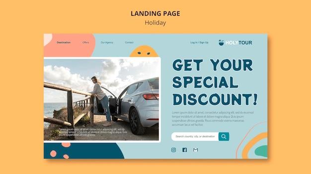 Feiertags-landingpage-vorlage