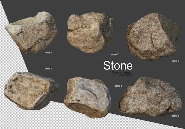 Felsformation auf unterschiedliche weise