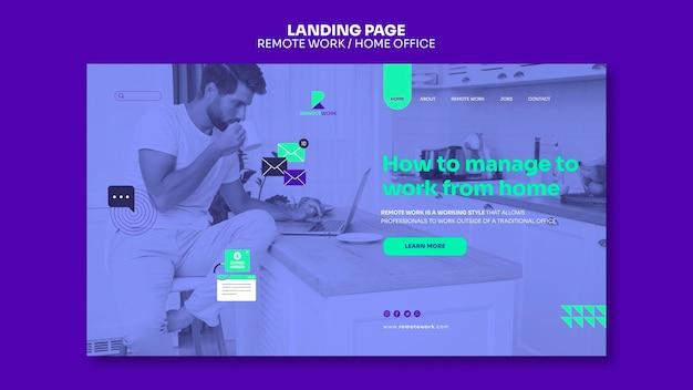 Fernarbeits-landingpage