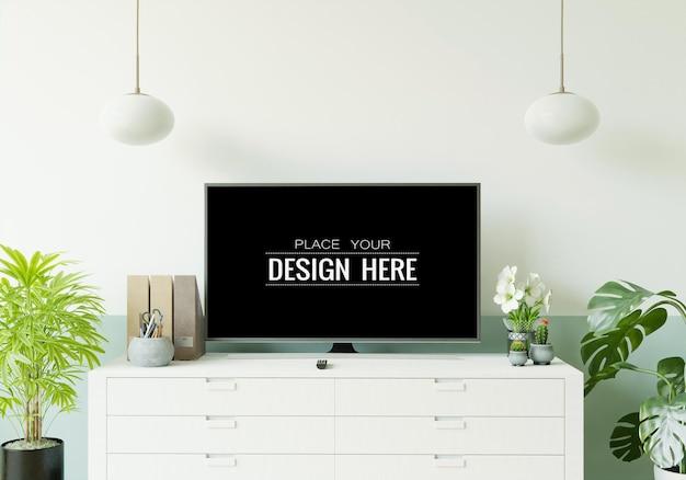 Fernseher im wohnzimmermodell