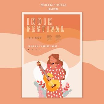 Festival ad flyer vorlage