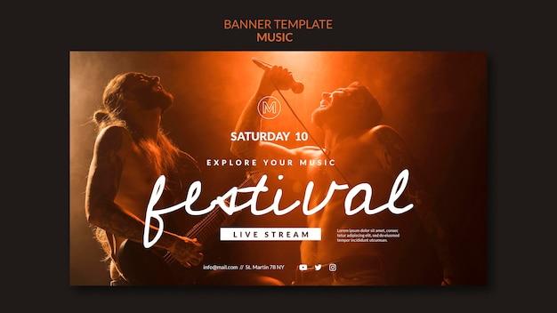 Festival-banner-vorlage