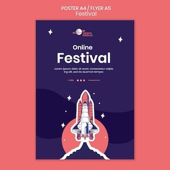 Festival poster vorlage