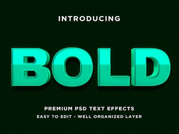 Fett - 3d-text-stil schrift-effekt psd-vorlagen