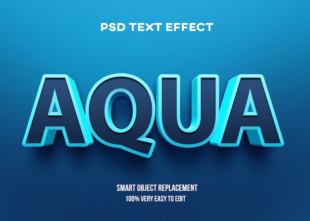 Fettgedruckter aquatext-effekt 3d
