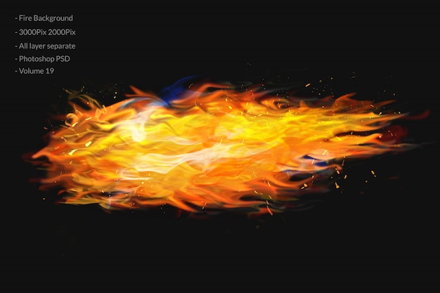 Feuer flammt hintergrund