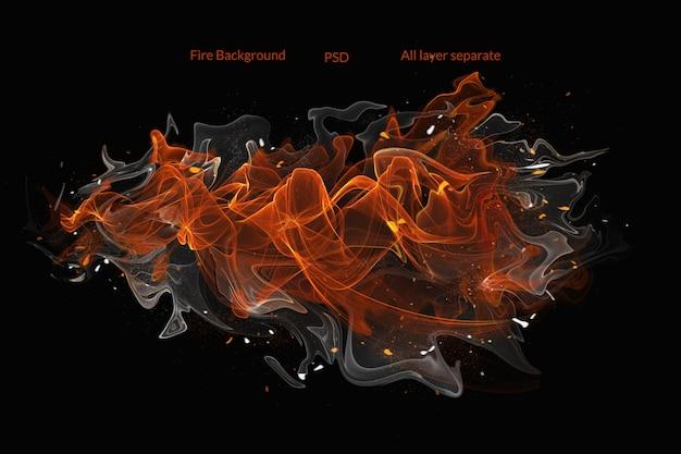 Feuer hintergrund Premium PSD