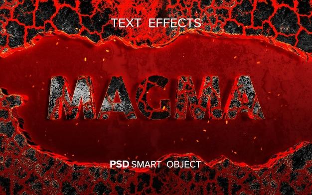 Feuer inspirierter texteffekt