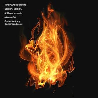 Feuerflammen-effektschicht