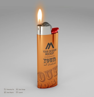Feuerzeugmodell isoliert