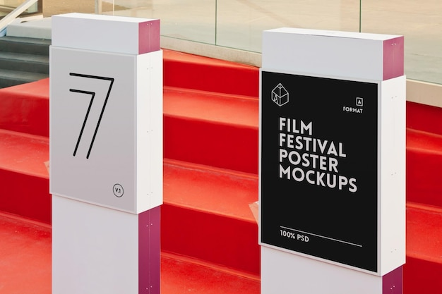 Film festival poster mock-up