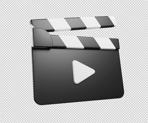 Filmkino-symbol 3d illustration rendering