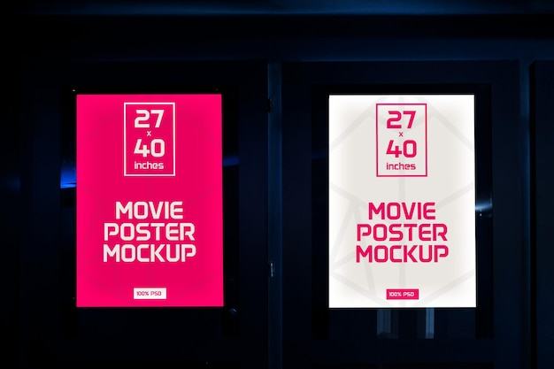 Filmplakate mock-up