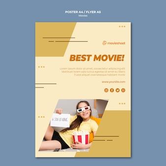 Filmzeit poster vorlage mit foto