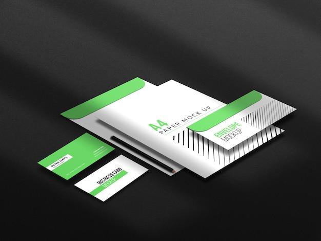 Firmenbranding-briefpapier-mockup-set