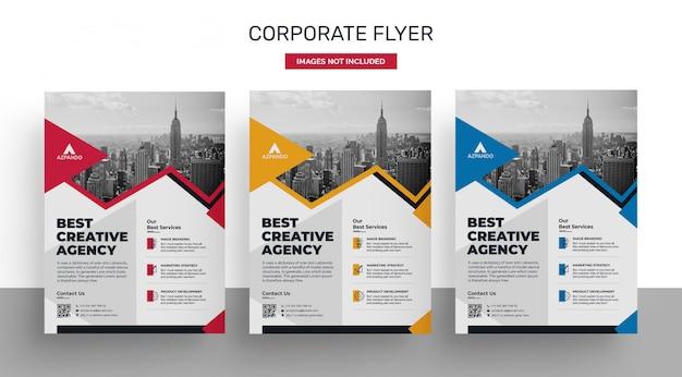 Firmenkundengeschäft flyer plakat vorlagendesign