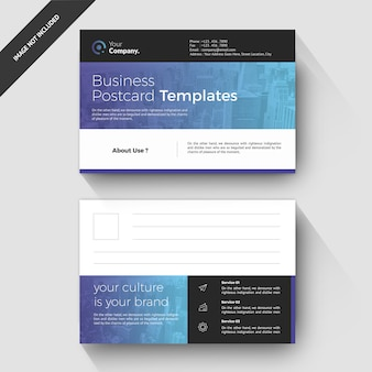 Firmenkundengeschäft postkarte