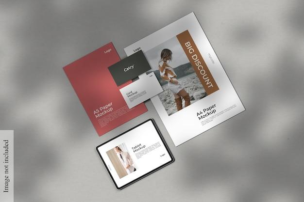 Firmenpapier modell