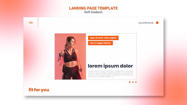 Fit cardio girl landing page