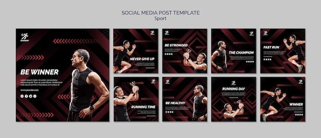 Fit sportler social media post vorlage