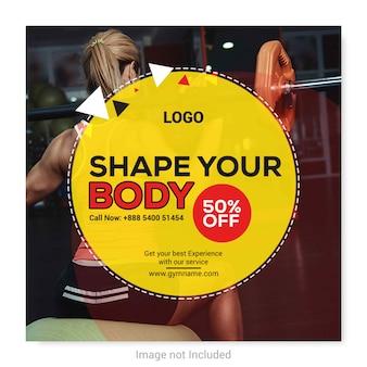 Fitness banner für social media