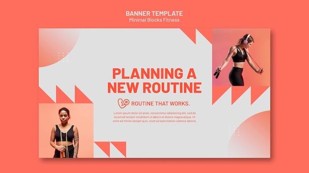 Fitness-banner-vorlage