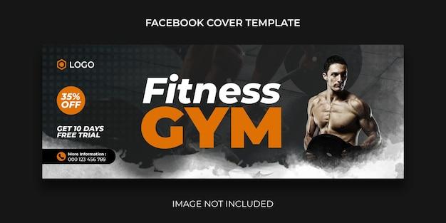 Fitness-facebook-cover für social-media-beiträge und webbanner