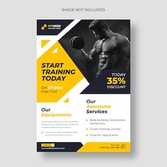Fitness-flyer-vorlage