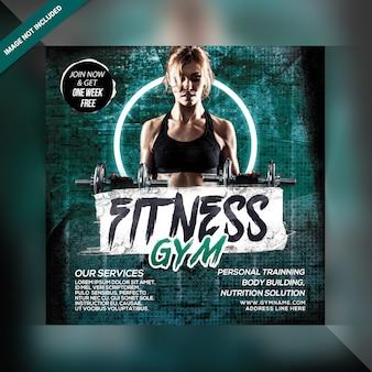 Fitness gym banner vorlage