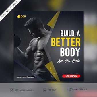 Fitness gym club banner vorlage