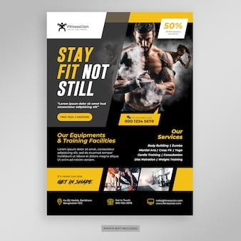 Fitness gym flyer vorlage