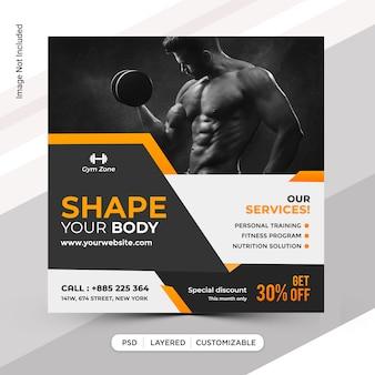 Fitness instagram beitragsvorlage