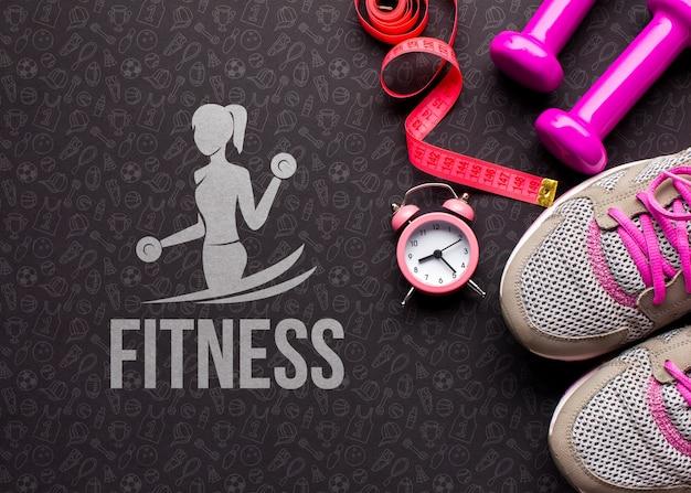 Fitness-klasse ausrüstung und messung
