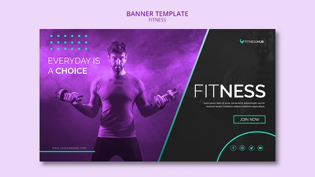 Fitness-konzept-banner-vorlage