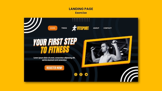 Fitness landing page vorlage