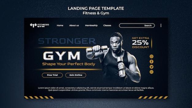 Fitness-landingpage im fitnessstudio