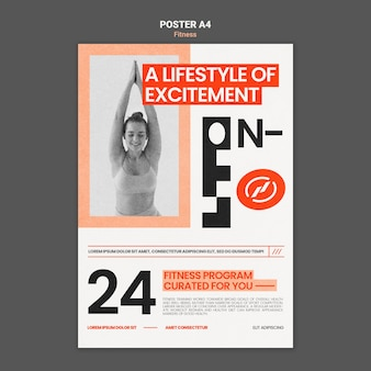 Fitness poster vorlage