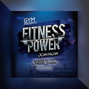Fitness power instagram post vorlage