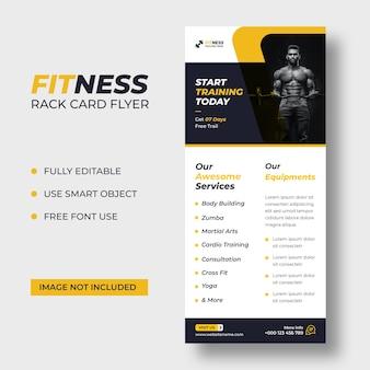 Fitness rack karte dl flyer vorlage