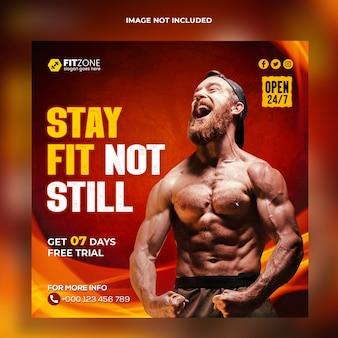 Fitness social media banner vorlage