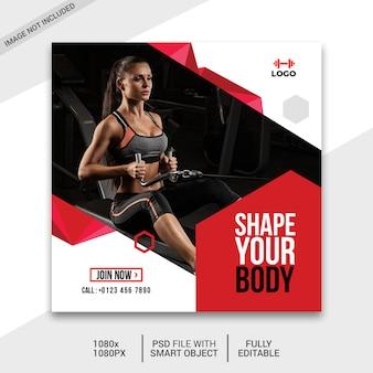 Fitness social media beitrag