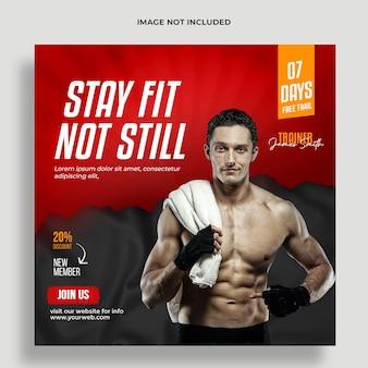 Fitness social media post vorlage premium psd