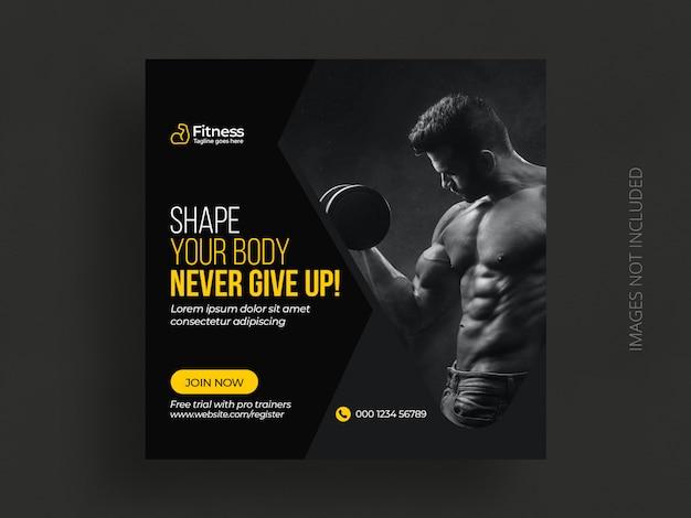 Fitness social media post vorlage