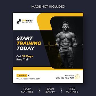 Fitness-social-media- und instagram-post-vorlage