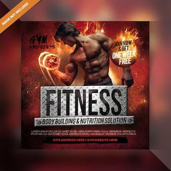 Fitness soziale banner vorlage