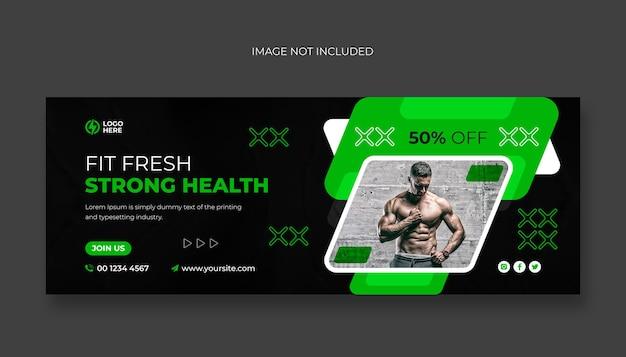 Fitness-studio-facebook-cover und web-banner-vorlage
