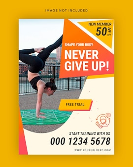Fitness-studio poster vorlage