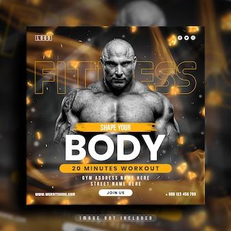 Fitness-studio-social-media-post und web-banner-vorlage