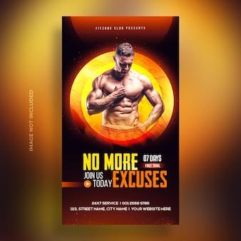 Fitness-studio-training instagram-post und web-banner-premium-psd-vorlage
