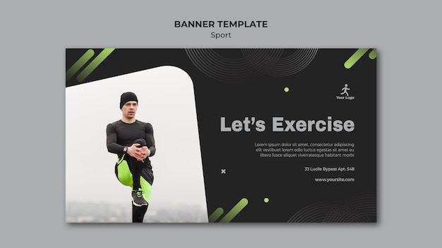 Fitness-training banner vorlage